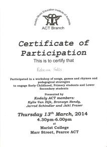 Kodaly PD Certificate