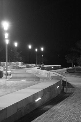 Sandstone pathway in the new harbour foreshore park, Barangaroo