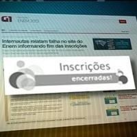 """""""Jornal Nacional"""" hoje (27/05/2013): 'Enem recebe mais de 7,1 milhões de inscrições e bate recorde'"""