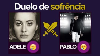 Adele or Pablo?  G1 promotes 'suffering' duel with track by track;  VIDEO
