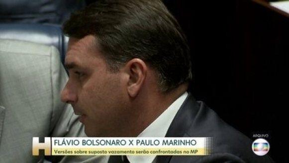 Acareação entre Flávio Bolsonaro e Paulo Marinho está prevista para esta segunda (21)