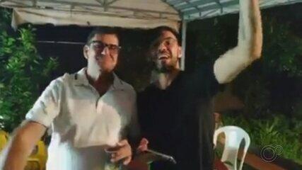 Prefeito e vice-prefeito de Salto Grande participam de aglomeração