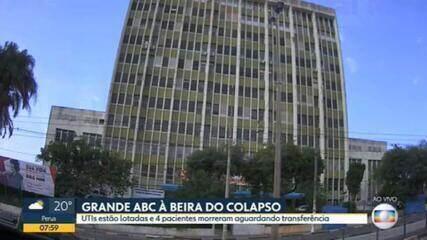 Cidades do ABC paulista estão praticamente sem vagas disponíveis de UTI