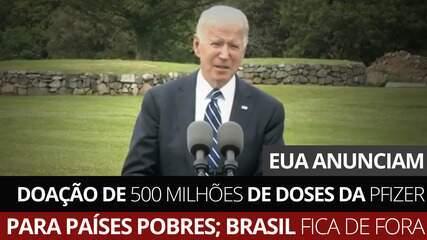 EUA anunciam doação de 500 milhões de doses da Pfizer para países pobres
