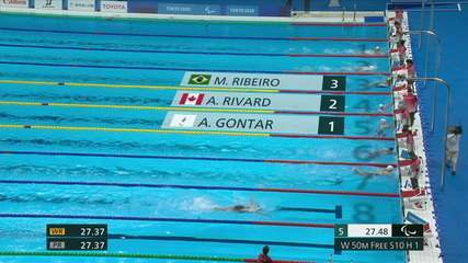 Mariana Ribeiro takes 3rd in the classifications of the women's 50m freestyle S10 - Tokyo 2020 Paralympics