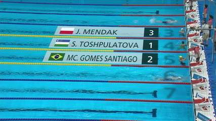 Maria Carolina Santiago takes 2nd, in the classification of the women's 100m butterfly S13 - Tokyo 2020 Paralympics