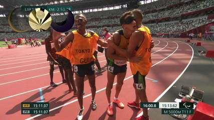 Yeltsin Jacques wins the gold medal in the men's 5000m T11 - Tokyo 2020 Paralympics