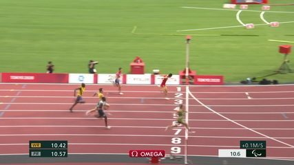 Petrúcio Ferreira takes 1st in the Men's 100m T47 Qualifier - Tokyo 2020 Paralympics
