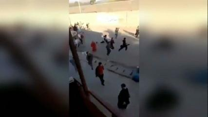 Video shows people running while gunshots are heard in Kabul