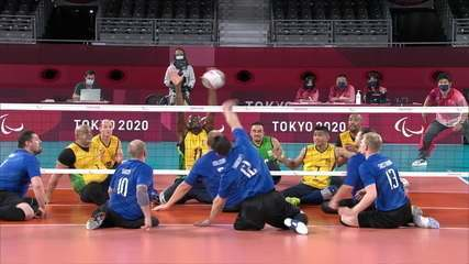 Highlights: Brazil 1 x 3 Russian Committee in men's seated volleyball semifinal - Tokyo Paralympics