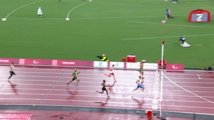 Ricardo Gomes de Mendonça takes second in the second heat of the 200m T37, Christian Gabriel finishes fifth - Tokyo Paralympics
