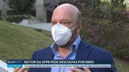 Dean of UFPR apologizes for errors in the list of those approved for the entrance exam