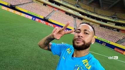 Before facing Uruguay, Neymar retraces steps from his last goal at the Arena da Amazônia