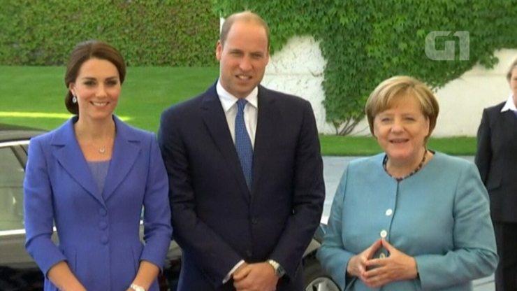 Príncipe William e Kate Middleton chegam à Alemanha para visita