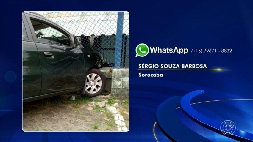 Motorista perde controle da direção e atinge alambrado de creche em Salto
