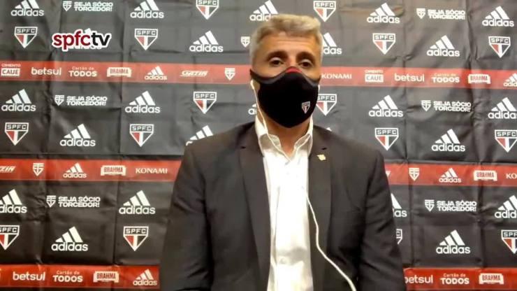 Confira a coletiva do técnico Hernán Crespo após derrota do São Paulo para o Atlético-MG