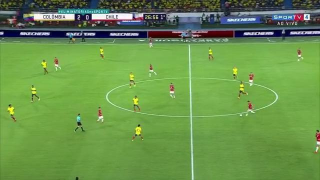Melhores momentos: Colômbia 3 X 1 Chile pela 10ª rodada das Eliminatórias da Copa