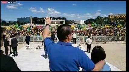 Bolsonaro participa de manifestação antidemocrática e inconstitucional no domingo (3)