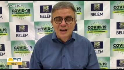 Prefeito anuncia reabertura de shoppinga e salões em Belém