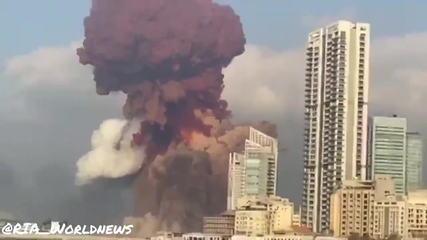 Veja o momento exato do que seria a explosão próximo ao porto de Beirute