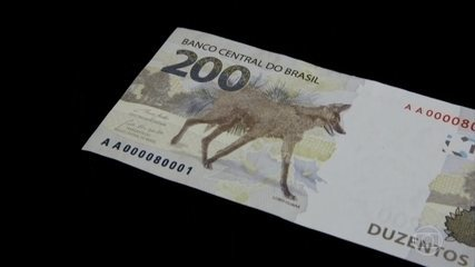 In 2020, the Central Bank issued a R$ 200 bill, with an image of a maned wolf