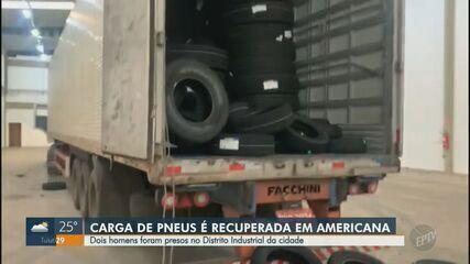 Dois homens são presos com carga de pneus roubados no Distrito Industrial, em Americana