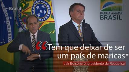 Brasil tem de deixar de ser 'país de maricas' e enfrentar pandemia 'de  peito aberto', diz Bolsonaro | Política | G1