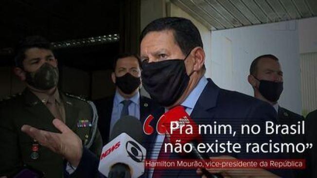 'Pra mim, no Brasil não existe racismo', diz Hamilton Mourão sobre agressão a negro no RS