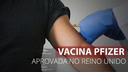 VÍDEO: Vacina Pfizer aprovada no Reino Unido e a imunização começa na próxima semana