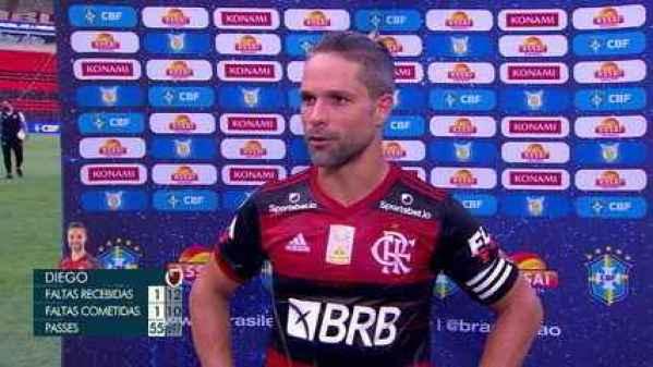 """Diego após a derrota para o Ceará: """"Totalmente decepcionado"""""""