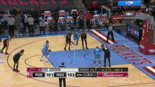 Melhores momentos: Houston Rockets 104 x 101 Portland Trail Blazers, pela NBA