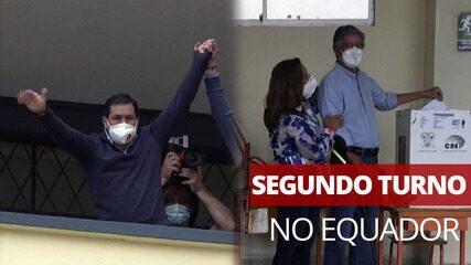 Candidatos votam no segundo turno das eleições presidenciais no Equador