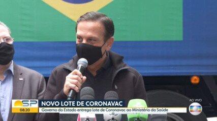 Butantan retoma entregas e libera novo lote de doses da CoronaVac ao Ministério da Saúde