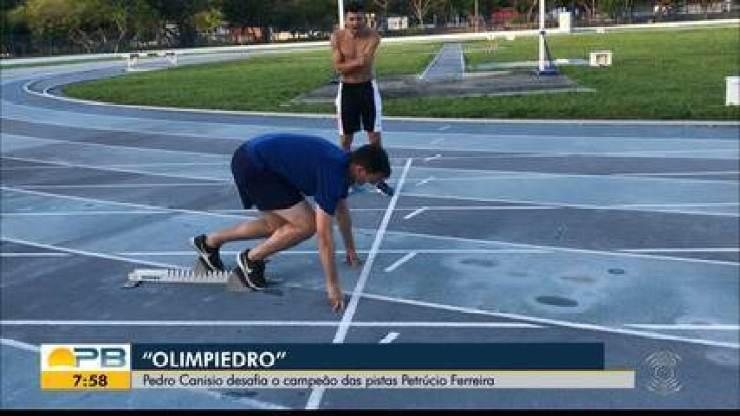 Olimpiedro: Pedro Canisio desafia Petrucio Ferreira nas pistas de atletismo