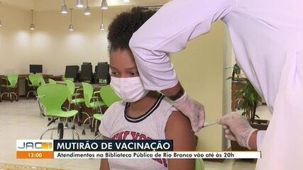 Rio Branco tem aplicação de primeira dose para adolescentes de 12 anos ou mais