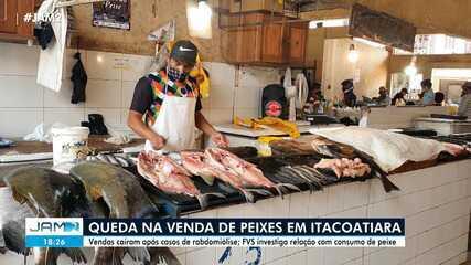 Itacoatiara has a drop in fish sales after cases of rhabdomyolysis