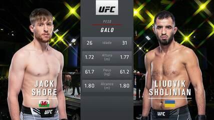 UFC Brunson v Till - Jack Shore v Liudvik Sholinian