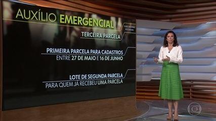 Auxílio emergencial: 3ª parcela começa a ser paga neste sábado (26)
