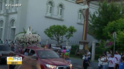 Fiéis de Bragança, no nordeste do Pará, prestam homenagens à Nossa Senhora de Nazaré