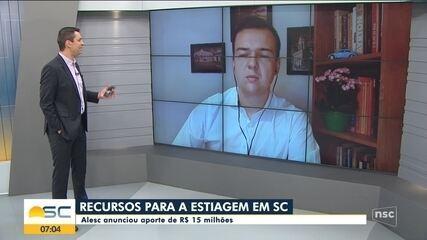 Alesc deve anunciar aporte de R$ 15 milhões por causa da estiagem; Ânderson Silva comenta