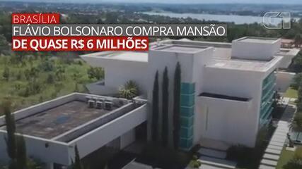 Imagens do anúncio da mansão comprada pelo senador Flávio Bolsonaro