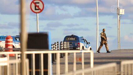 Vídeo mostra PM que surtou na Barra antes de ser baleado