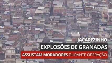 VÍDEO: Explosões de granadas assustam moradores do Jacarezinho durante operação