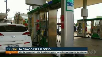 Alta dos combustíveis afetam lucro de motoristas por aplicativos