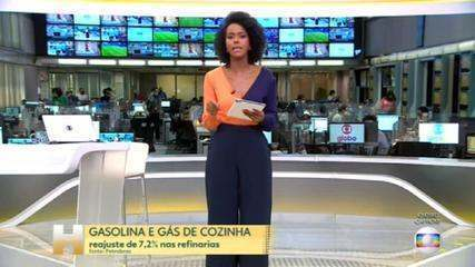 Petrobras announces readjustment in gasoline and cooking gas prices