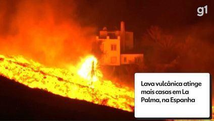 Volcanic lava hits more homes in La Palma, Spain