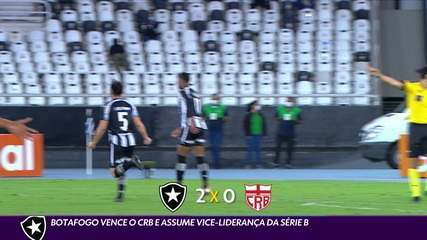 Botafogo wins the CRB and takes the vice-leadership of Series B