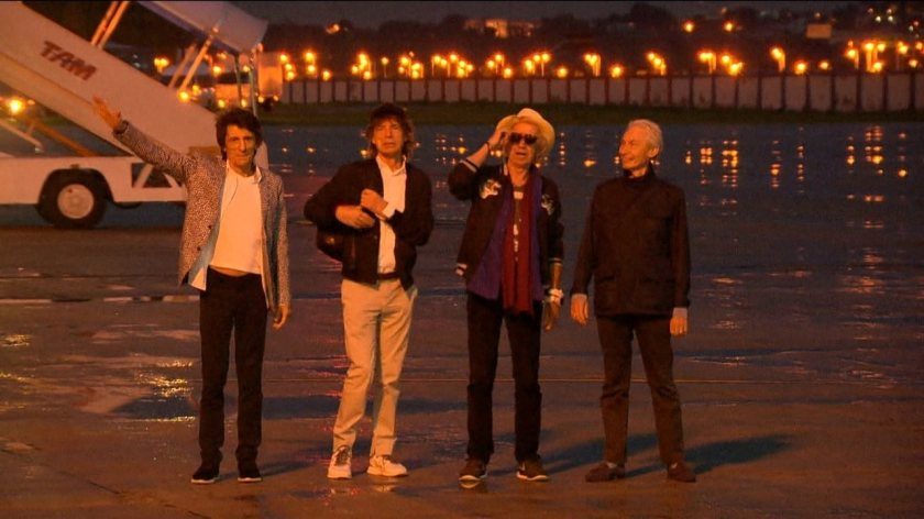 Rolling Stones arrive in Rio de Janeiro for the new tour