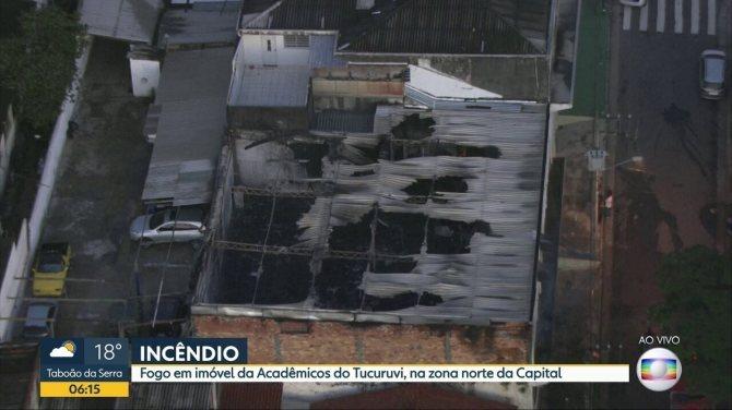 Ateliê da Acadêmicos do Tucuruvi pega fogo na Zona Norte de SP