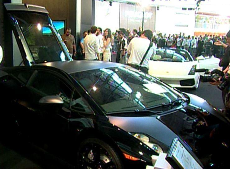 Salão do Automóvel de 2006 teve carros da Lamborghini apreendidos pela PF